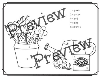 May Color By Numbers Packet! PRINT AND GO!