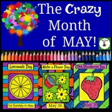 Coloring Pages Celebrating Days for the Crazy Month of May