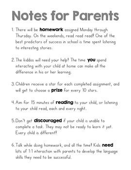May Common Core Kindergarten Homework