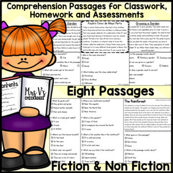 Reading Comprehension Passages & Questions: MAY EDITION