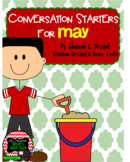 May Conversation Starters, Morning Meeting Ideas, Quick Wr