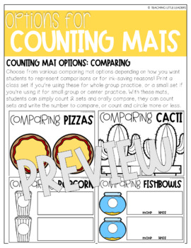 May Counting Mats (for Counting and Comparing)