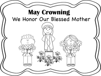 May coloring pages ~ May Crowning Coloring Pages by Miss P's PreK Pups | TpT