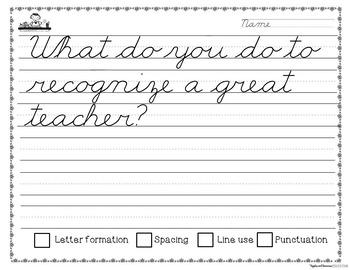 May Cursive Copywork Handwriting Practice