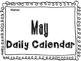 May Daily Calendar Activity Journal