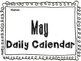 May Daily Calendar Activity Journal