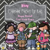 May Daily Calendar Review and Math Practice