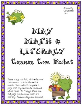 May Daily Common Core Third Grade Practice For Language Ar