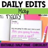 May Daily Edits