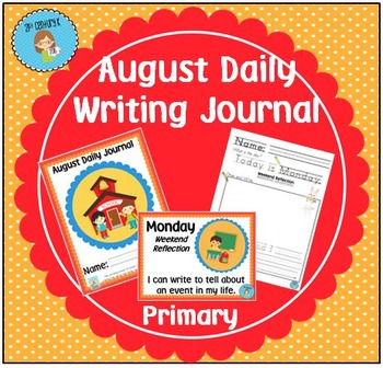 "August Daily Journal - Primary Writing Printables PLUS ""I"