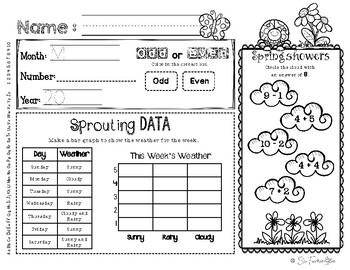 May Daily Literacy & Math Morning Work {Kindergarten & First Grade} No Prep!