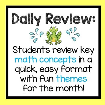 May Daily Math Review 2nd Grade Common Core