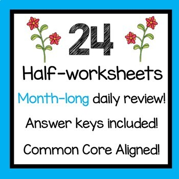May Daily Math Review 5th Grade Common Core