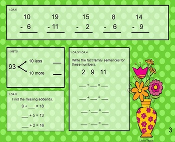 May Daily Math Warm-Up (1st Grade Common Core)