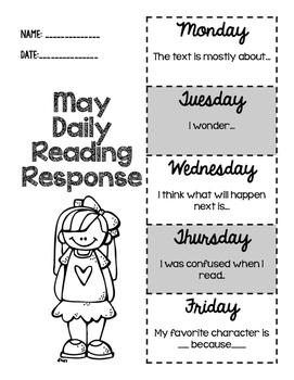 May Daily Reading Response
