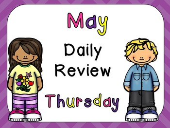 May Daily Skills Review PowerPoints for Kindergarten~Great for Calendar Time!