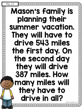 May Daily Word Problems {Second Grade}