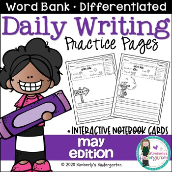 Daily Writing Journal Pages for Beginning Writers: May Edition. K or 1st.