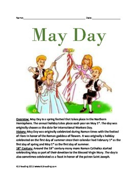 May Day - Holiday Spring Informational Article Facts Histo