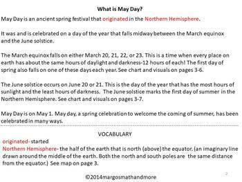 May Day Writing, Reading, and Craftivity