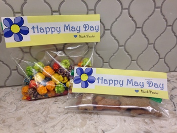 May Day ziplock bag tags