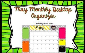 May Desktop Organizer Freebie