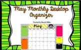 May Desktop Organizer Freebie
