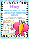 May Differentiated Literacy Center Word Work Menu (Common