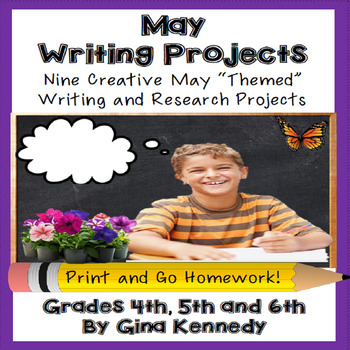 May Writing Projects for Upper Elementary Students