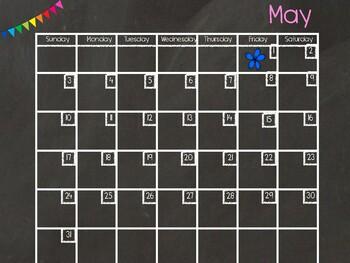 May Digital Calendar
