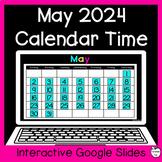 May Digital Calendar Time for Google Slides ~ 1st Grade Di