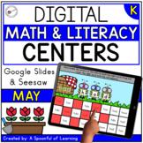 May Digital Centers for Kindergarten - Math & Literacy | D