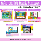 May Digital Math Stations for End of the Year l Task Cards
