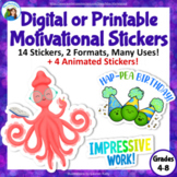May Digital Motivational Stickers: Middle School and Upper