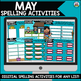 May Digital Spelling Activities for Word Work