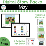 May Digital Story Packs for Special Education  (Boom Learn