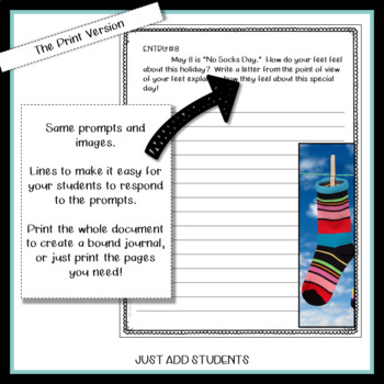May  Digital Writing Journal for  Google Drive or OneDrive