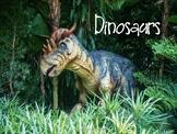 May Dinosaur Vocabulary Lesson Plans