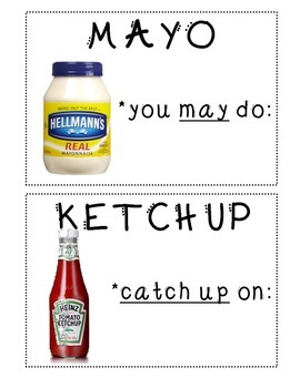 May Do Condiment Sign