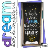 "May Door Decoration Set: ""A book is a dream that you hold in your hands."""