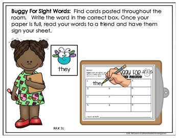 May EDITABLE Sight Word Write the Room Fun - Differentiated and Aligned