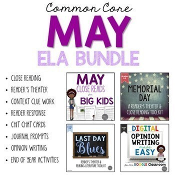 May ELA Bundle Common Core Aligned for Grades 4-6