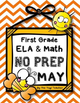 May ELA & Math Print & Go for First Grade-Common Core Aligned