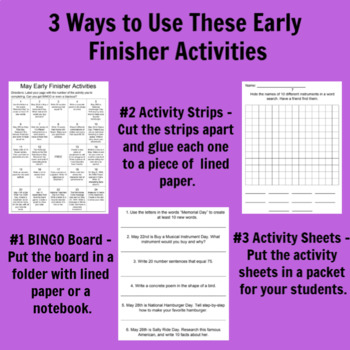 May Early Finisher Activities