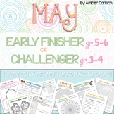 May Early Finisher (Gr.5-6) or Challenger (Gr.3-4) Packet