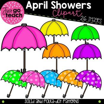 Umbrella and Flower Clipart