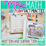Addition and Subtraction Math Facts Worksheets: May