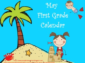 May First Grade Calendar for ActivBoard