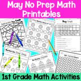 May First Grade No Prep Math Packet