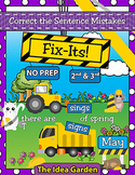 May Fix-Its - Correct the Sentences NO PREP (2nd-4th)